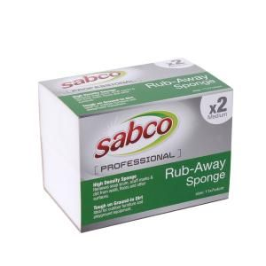 SABCO RUB AWAY SPONGE MED 2PK