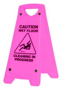'A' FRAME CAUTION WET FLOOR SIGN PINK