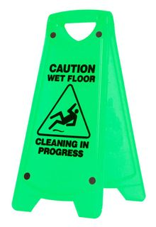 'A' FRAME CAUTION WET FLOOR SIGN GREEN