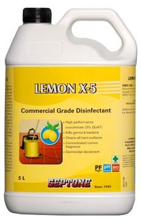 LEMON X-5 DISINFECTANT 5L(HDLX5)