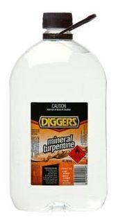 DIGGERS MINERAL TURPS 4 LITRE (TUM0404)