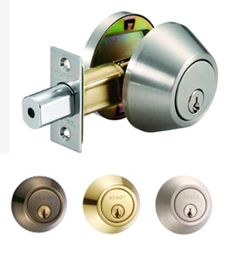 EZSET Single Cylinder Deadbolt Lock PB