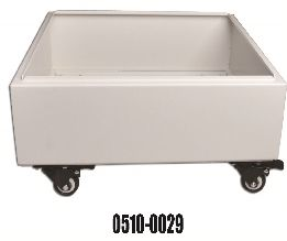 Mobile Cart Stainless Steel for Slide Storage Units L485 x W480 x H46mm White with Lockable Castors
