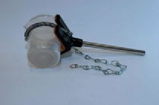 Beaker holder with chain to hold objects from 50mm - 150mm Dia. with a 12mm Dia x 150mm Long Arm