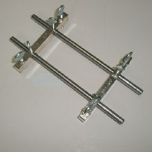 Sink Staining Rack Fitted with level adjusting screws, holds two 8 - 9mm Metal Tubes Not Included