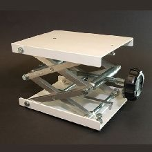 Laboratory Jack 200 x 150mm Nylon Coated Platform, 70 x 350mm Elevation with 2 Level Adjusting Screws