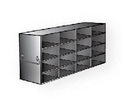 Freezer Rack Universal Style Stainless Steel 16 x 2 (4 x 4) Boxes 140.1(d) x 552.7(l) x 228.5(h)mm (2 Racks/Carton)