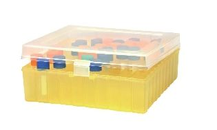 Freezing Box 100 Place with Hinged Lid Polypropylene for 1.8ml Cryovials -196 to 121 Degrees Natural