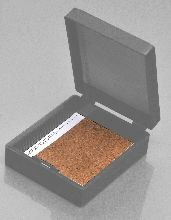 25 Place Slide Storage Boxes, ABS with waterproof Index Card and Cork Lined