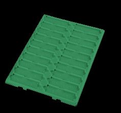 Slide Tray Fast Read with Dividers 20 Place without Lid Polystyrene Green
