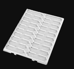 Slide Tray Fast Read 20 place Polystyrene without Lid