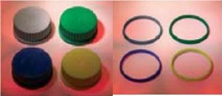 Cap & O'ring Yellow GL45 for Reagent Bottle Autoclavable (10/Pack) - EACH