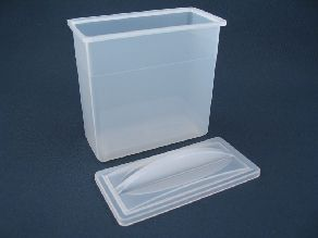 Staining Dish White w/Lid (12/Pack)