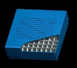 Freezer 2 inch Storage Box 100 Place, 10 x 10 format, Blue Cardboard, 134 x 134 x 76mm