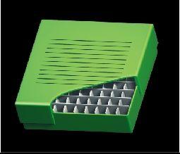 Freezer 2 inch Storage Box 100 Place, 10 x 10 format, Green Cardboard, 134 x 134 x 76mm