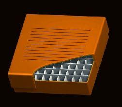 Freezer 2 inch Storage Box 100 Place, 10 x 10 format, Orange Cardboard, 134 x 134 x 76mm