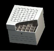 Freezer Storage Box 36 Place, 6 x 6 format, White Cardboard for 15ml Centrifuge Tubes, 150 x 150 x 122mm