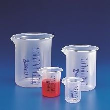 Beaker Graduated Low Form Polypropylene with Blue printed Graduations 5lt