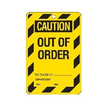 Lock Out Tag Out of Order Cardstock (100/Pack)