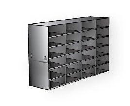 Freezer Rack Universal Style Stainless Steel 24 x 2 (4 x 6) Boxes 140.1(d) x 552.7(l) x 342.5(h)mm (2 Racks/Carton)