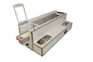 COT 20.200 Continuous Linear Stainer with Closed Side Panels for Processing upto 1,000 Slides per hour, 23 Stations with 20 Slides per Basket 1300 x 570 x 440mm