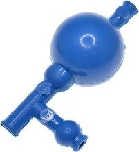 Pipette Filler Rubber 3 Valve Type Blue