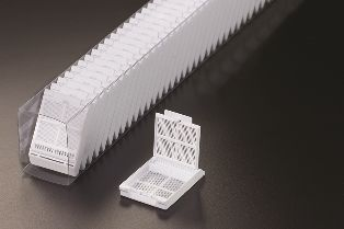 Micromesh Biopsy Cassette 1 Compartment White in Quickload Sleeves (10 x Tubes 75/Case)