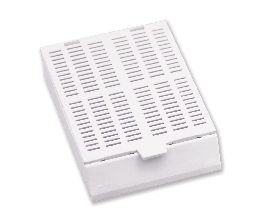 Jumbosette Embedding Cassette with Lid White 75 x 12 x 18mm (100/Case)
