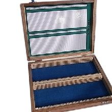 Slide Storage Box Wooden 100 Place