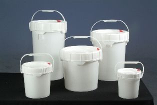 Screw Top Pail with O'ring in Lid