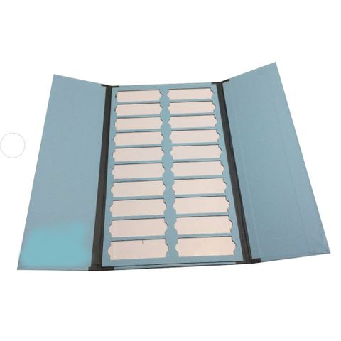 Cardboard Slide Tray 20 Place with Dividers, Index and Flaps