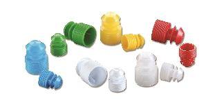 Simport Cap Flanged Plug 16mm Polyethylene Green (1000/Case)