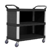 Service Trolley with Cabinet, 3 Tier, 895 x 505mm
