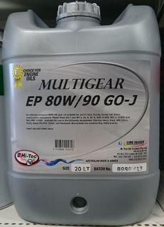 HI-TEC 80W/90 GL-5 MULTI GEAR OIL 20LTR