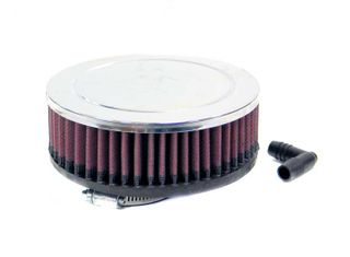 K & N AIR FILTER (UNIVERSAL CHROME)