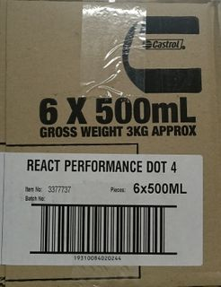 CASTROL REACT BRAKE FLUID DOT 4 500ML