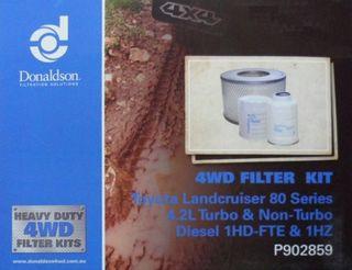 DONALDSON FILTER KIT L/CRUISER 80S 4.2L