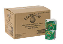 Toilet Tissue Interleaved 2 Ply Earthcare 100% Recycled