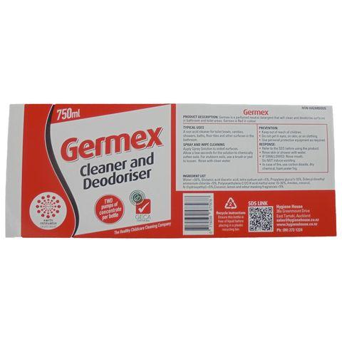 Earth Renewable Germex -  Label