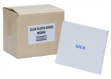 DISPOSABLE CLEAR PLASTIC MED GLOVES