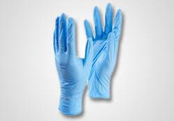 GLOVES VINYL P/F MEDIUM BLUE (CTN)