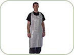 DISPOSABLE APRON WHITE POLYTHENE (50)