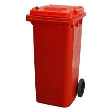 WHEELY BIN 120 LTR ROTAFORM (RED)