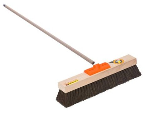 BROOM & HANDLE STIFF BRISTLE OUTDOOR 460MM JAVA