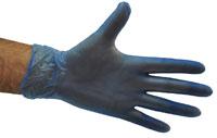 GLOVES VINYL P/F MEDIUM BLUE (BOX)
