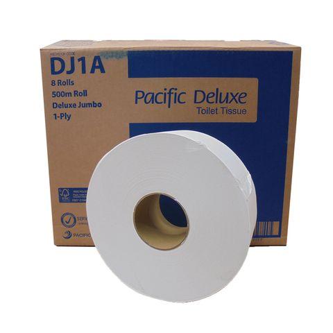 Toilet Tissue Roll 1 Ply Jumbo Deluxe