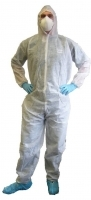 DISPOSABLE LARGE WHITE COVERALLS