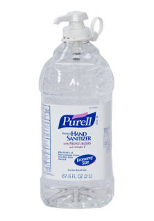 Sanitiser Hand Gel Purell 2 Ltr Pump Bottle DG3
