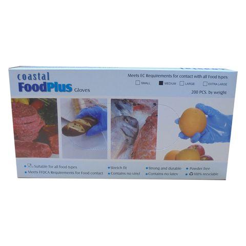 Gloves Disposable Powder Free Medium Food Plus Box