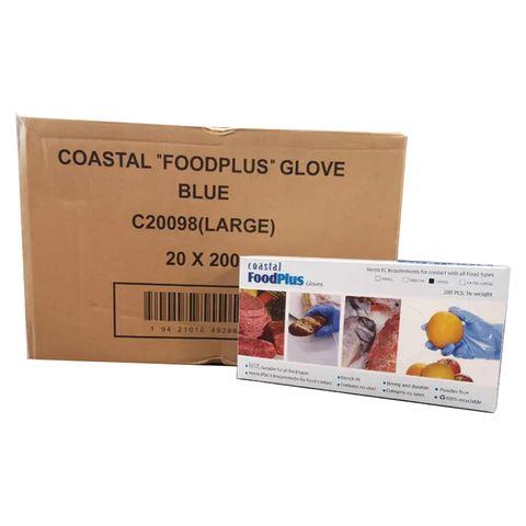 Gloves Disposable Powder Free Large Food Plus Carton